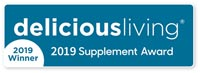 Delicious Living's award for Digestive Health 2019