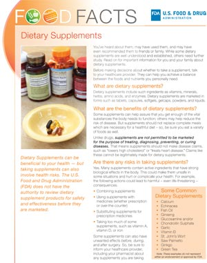 Food Facts: Dietary Supplements