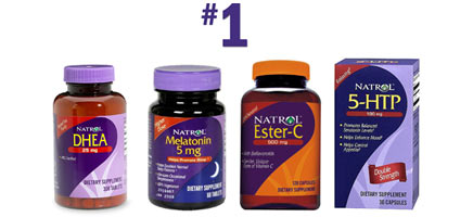 Natrol ranks #1 for melatonin, Ester-C, DHEA and 5-HTP 2006
