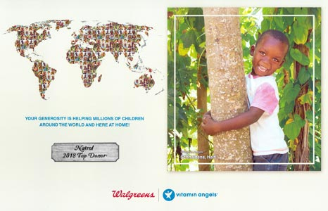 Natrol is recognized by Vitamin Angels for their contribution to their cause.